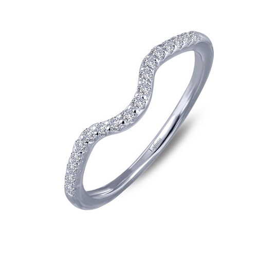 Lafonn's signature Lassaire simulated Diamond Stackable Ring 6R010CLP