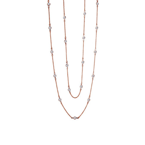 Lafonn's signature Lassaire simulated Diamond Necklace N0016CLR