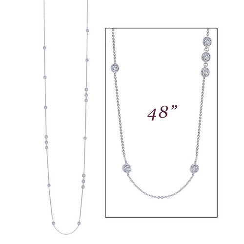 Lafonn's signature Lassaire simulated Diamond Necklace N0084CLP
