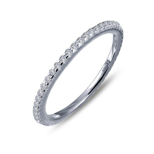 Lafonn's signature Lassaire simulated Diamond Stackable Ring R0038CLP