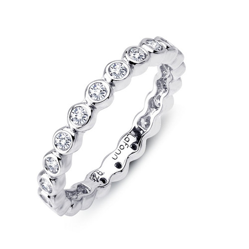 Lafonn's signature Lassaire simulated Diamond Stackable Ring R0120CLP