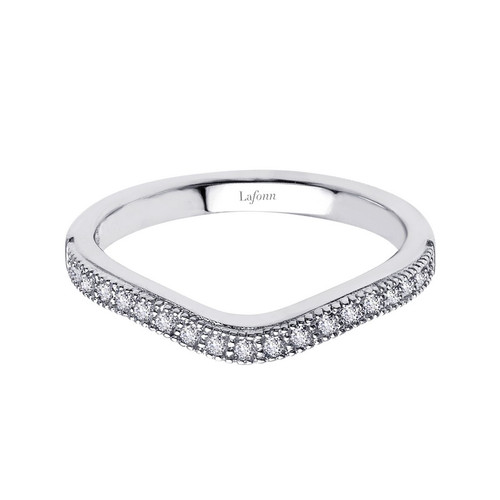Lafonn's signature Lassaire simulated Diamond Stackable Ring R0134CLP