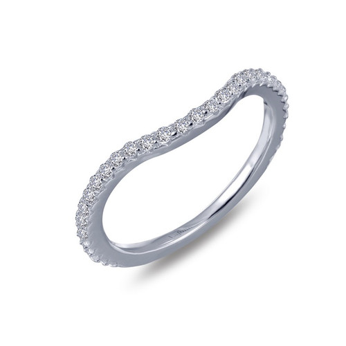 Lafonn's signature Lassaire simulated Diamond Stackable Ring R0157CLP
