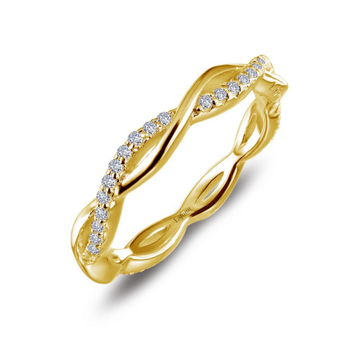 Lafonn's signature Lassaire simulated Diamond Stackable Ring R0211CLG