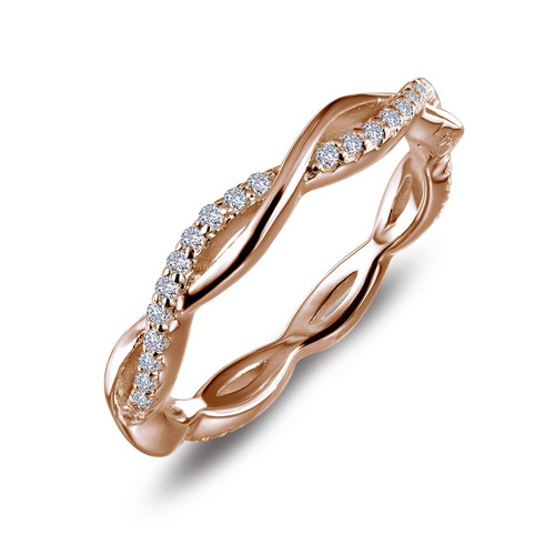 Lafonn's signature Lassaire simulated Diamond Stackable Ring R0211CLR