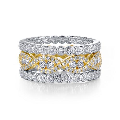 Lafonn's signature Lassaire simulated Diamond Stackable Ring R0370CLT