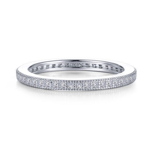 Lafonn's signature Lassaire simulated Diamond Stackable Ring R0373CLP