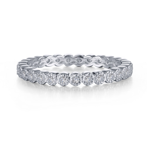 Lafonn's signature Lassaire simulated Diamond Stackable Ring R0374CLP