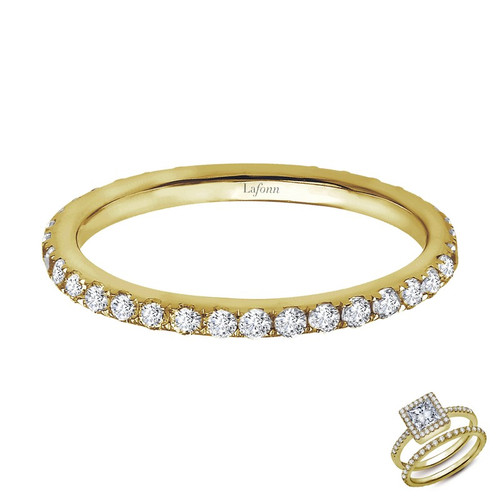 Lafonn's signature Lassaire simulated Diamond Stackable Ring R2008CLG