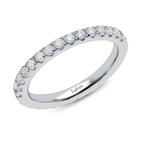 Lafonn's signature Lassaire simulated Diamond Stackable Ring R2018CLP