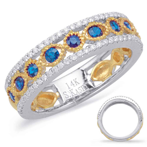 Sapphire & Diamond Stackable Gemstone Ring 