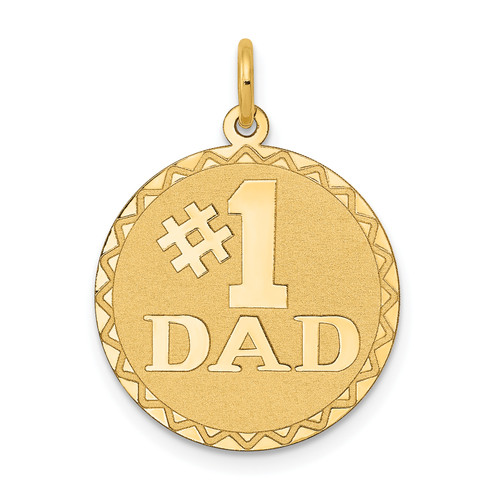 14KT Gold #1 DAD Charm