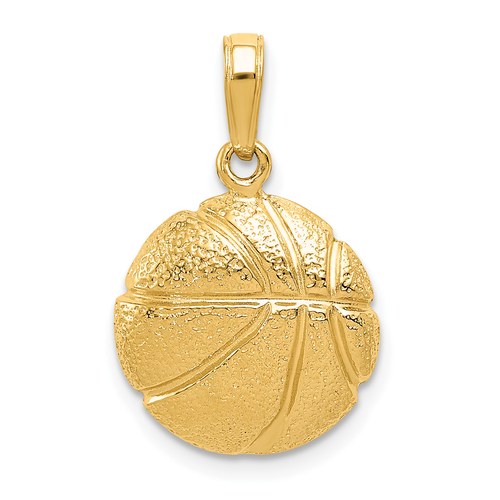 14KT Gold Basketball Pendant
