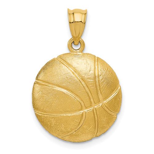 14KT Gold Basketball Charm
