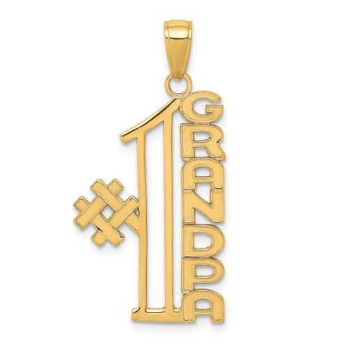 14KT Gold #1 GRANDPA Pendant