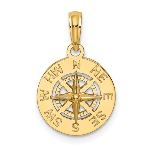 14KT Gold Gold Mini Nautical Compass Charm