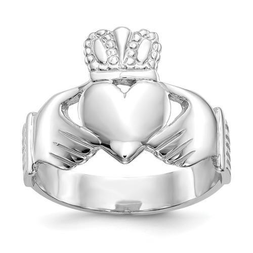 14KT Gold Gold White Gold Men's Claddagh Ring