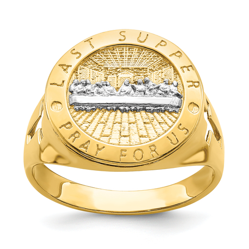 14KT Gold Gold With Rhodium The Last Super Men's Ring