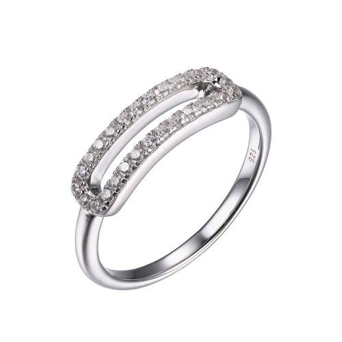 Sterling Silver Ring with Cubic Zirconia SXR3262WZ