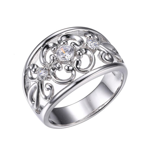 Sterling Silver Ring with Cubic Zirconia SXR3304WZ