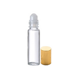 1/3 oz Roll On Bottle with Gold Cap