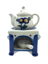 Tea Pot Stove Oil Warmer Set
