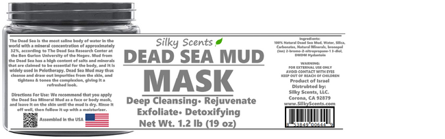 100% PURE & NATURAL Dead Sea Mineral Mud Mask - 19 OZ (1.2 POUNDS) (Exp August 2023) - LAB TESTED RESULTS! (MUD-19OZ)