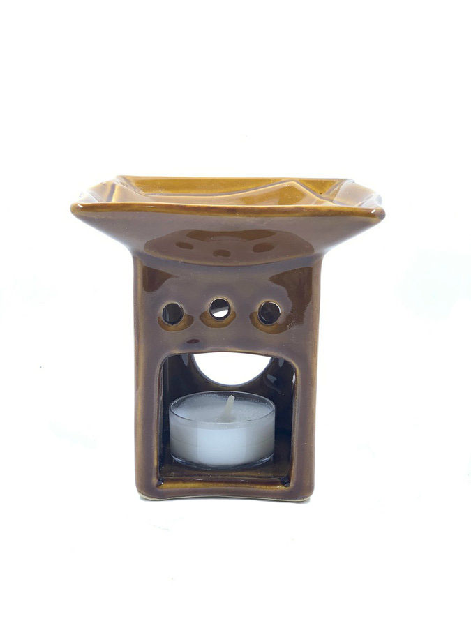 Brown Ceramic Oil Warmer