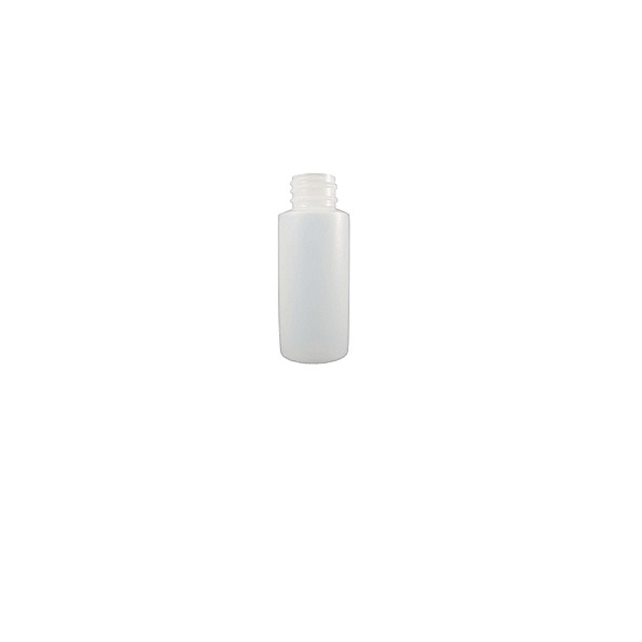 1 oz Empty HDPE Natural Plastic Bottles, Cylinder Round (Screw Caps Included)