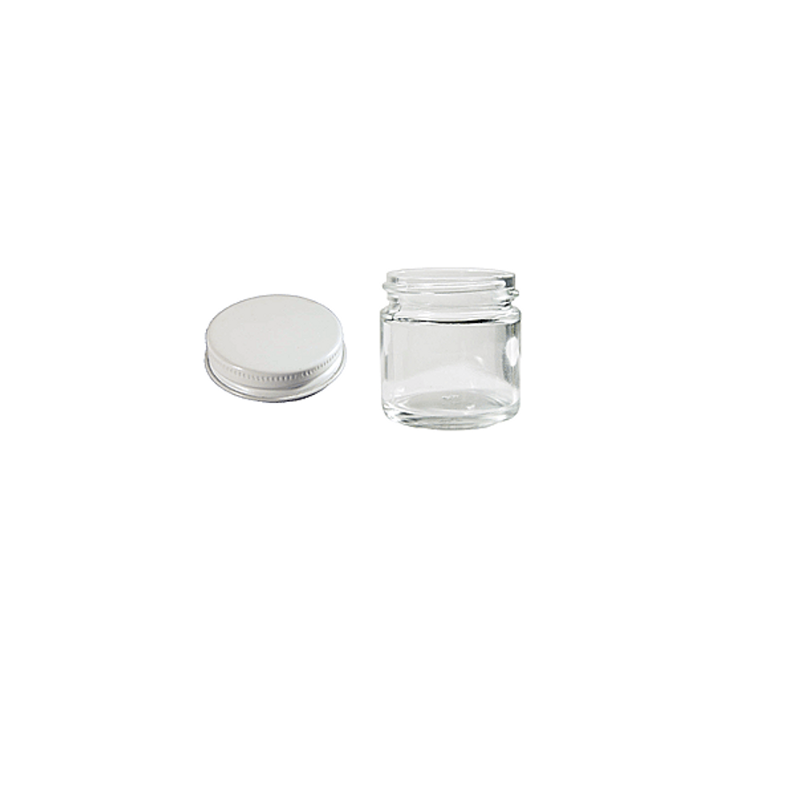 1 oz Clear Glass Jar with Cap