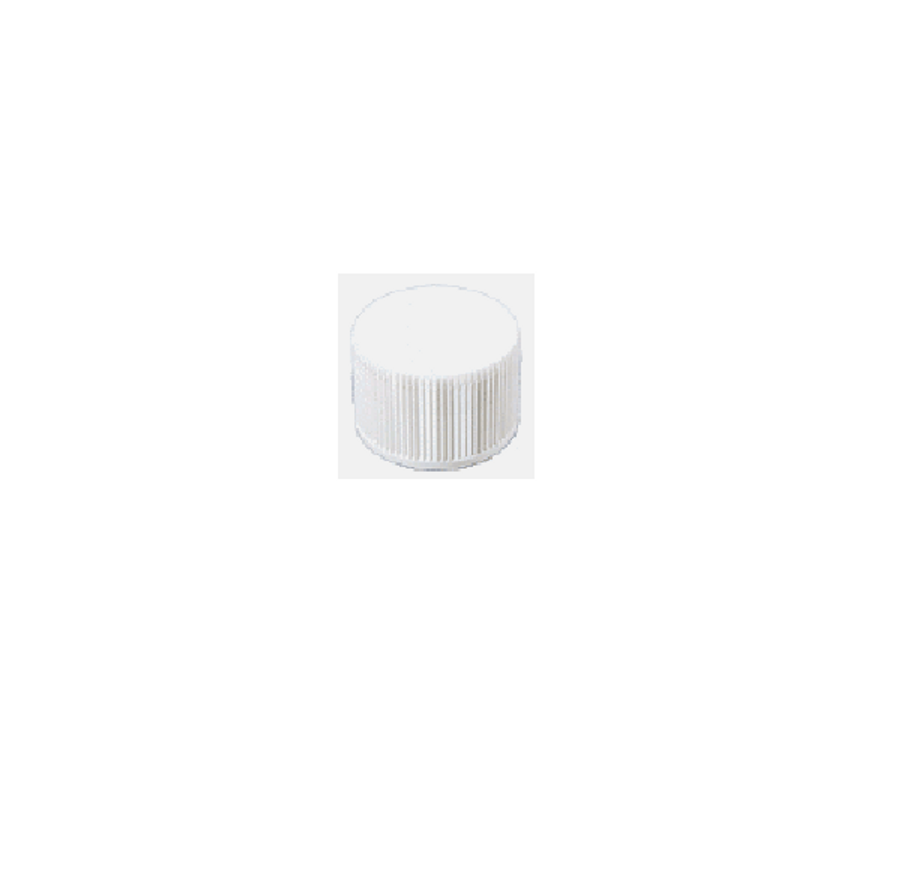 White Ribbed Plastic Lined Screw Cap