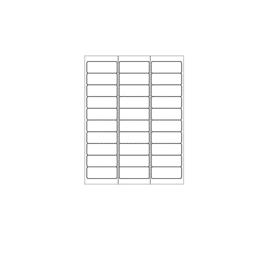 Blank Labels (30 Per Sheet)