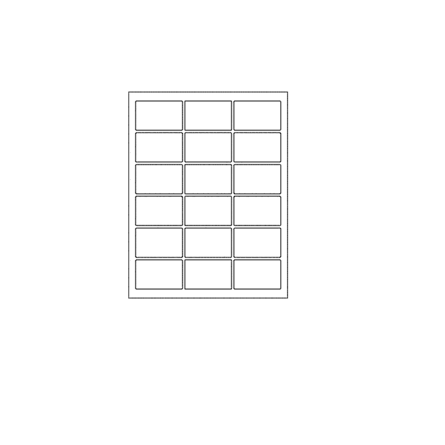 Blank Labels (18 Per Sheet)