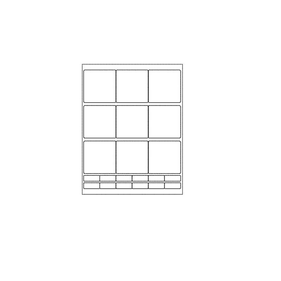Blank Labels, Glossy White, 9 Per Sheet (12 Sheets, 108 Large Labels)