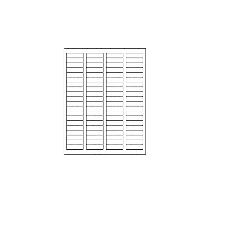 Blank Labels, Glossy White, 80 Per Sheet (12 Sheets, 960 Labels)
