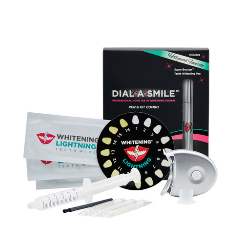 Dial A Smile Teeth Whitening Kit & Teeth Whitening Pen Combo