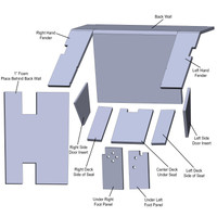 Cab Upholstery Kit (5 color options) IH 886 986 1086 1486 1586, Hydro 186