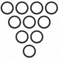 Quick Coupler O-Ring, #8, (Pkg. of 10), IH 1086 1486 1586 886 986