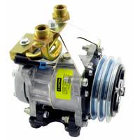 Genuine Sanden/York SD7H15 Compressor, w/ 2 Groove Clutch - New, IH 1066  1466  1468  1566  1568  4166  4186  766  966  Hydro 100