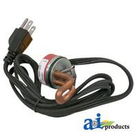 """Engine Block Frost Plug Heater, 1 5/8"""" Butterfly; 600 Watt  -  IH, 460 560 660706 C175 C200 C221 C263 C282 C291 C301 DT407 D188 D236 D282 D301 D407"""