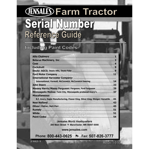 Serial Number Reference Guide