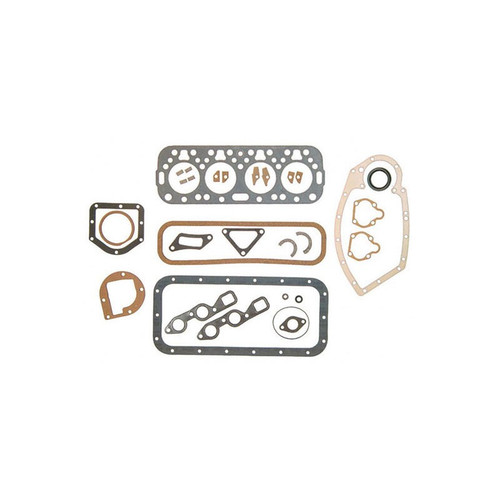 Overhaul Gasket Set with Crankshaft Seals, engines less water pump (Gas: C113), A, AV, B, BN, C, Super A, Super AV