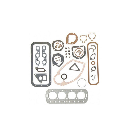 Overhaul Gasket Set with Crankshaft Seals, engines with water pump (Gas: C123, C135) 100 130 140 200 230 240 330 340, C, Super A-1, Super AV-1, Super C