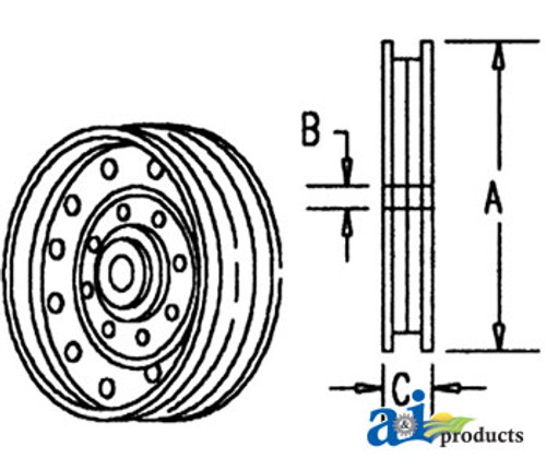 Idler Pulley (Flanged)