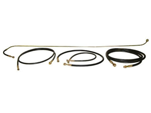 Hose Kit - Flare - With # 12 Rubber Suction Hose - Without Service Valves