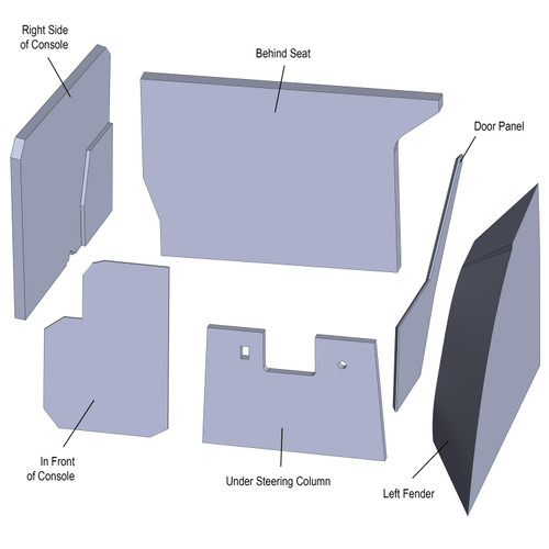 Cab Interior Kit Upholstery, Case IH Magnum, 7110 7120 7130 7140 7150