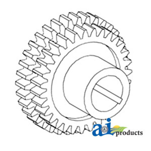 3rd and 4th Drive Gears, IH: H HV