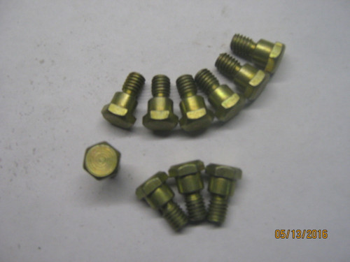 """Shoulder Hood Bolts (Package of 10) IH, 66 and 86 series Tractors (Gold colored) 1/2"""" Head"""