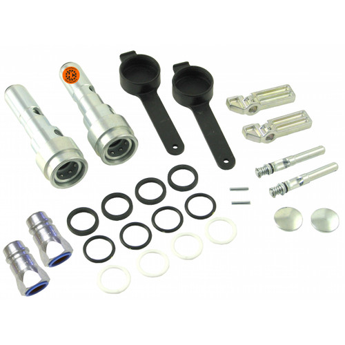 Hydraulic Coupler Conversion Kit (male tips), Pioneer ISO, John Deere