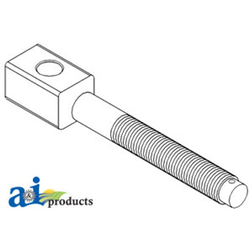 3 Point Lift Link Lower Adjustment Screw, IH 1066 1086 1466 1468 1486 1566 1586 3088 3288 3388 3488 3588 3688 3788 5088 5288 5488 6388 6788 7110 7120 7130 7140 7150 7210 7220 7230 7240 7250 7288 7488 8910 8920 8930 8940 8950
